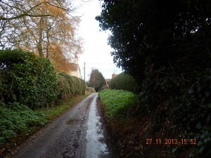 Further down Back Lane
