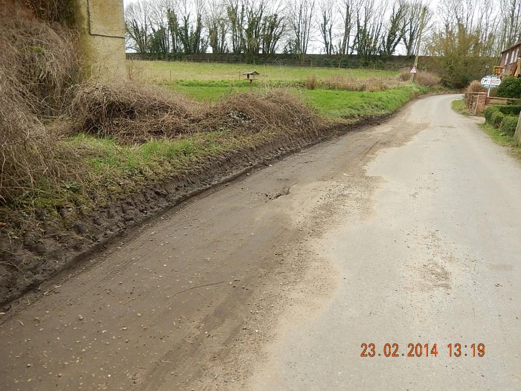 USE Potholes Marsham Road 23022014 outside The Cottage (2)