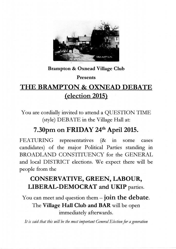 Brampton Debate poster001